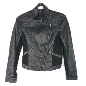 Rock Republic Women Faux Leather Bomber Jacket